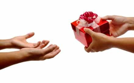 The act of gifting